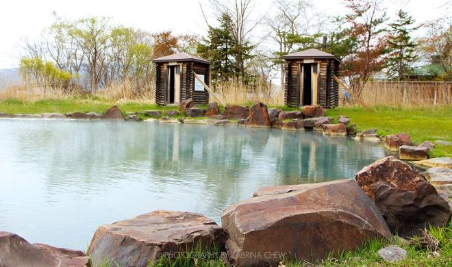 Ikenoyu outdoor onsen Lake Kussharo Akan National Park Hokkaido