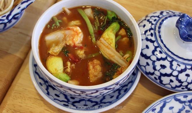 Seafood Tom yum Soup Bangkok Thailand