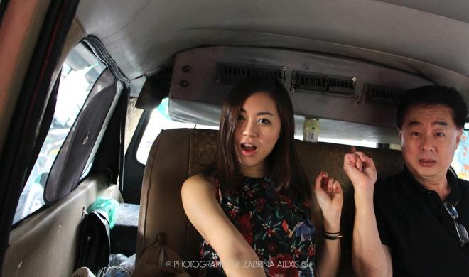Cabbing in Bangkok Thailand