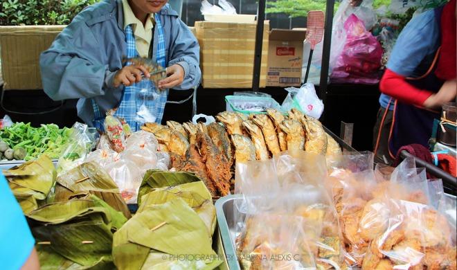 Roadside stalls in Bangkok Thailand