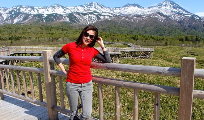 Zabrina Alexis C at Shiretoko Go-ko Five Lakes Hokkaido Japan Travel