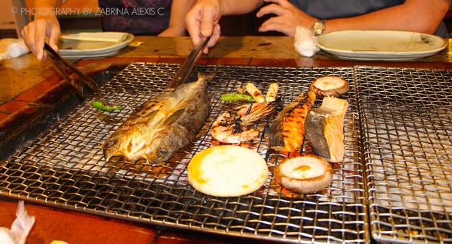 Robata Renga seafood charcoal barbecue