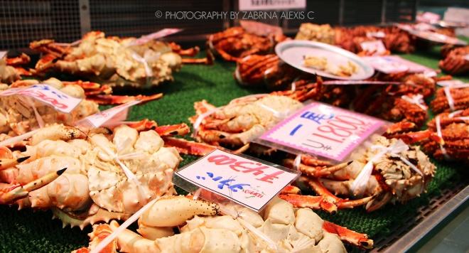 Kani (crab) at Washo Market Kushiro Japan