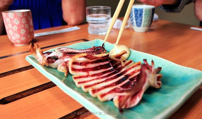 Grilled cuttlefish Marutomi Hokkaido Best Sashimi Travel Blog Food