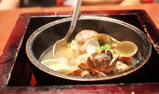 Watami Japanese Casual Restaurant Singapore Food Review Blog Hot Pot Clams in Sake sauce