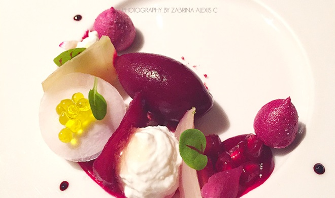 Asia's 50 Best Restaurants 2014 2015 Jaan Singapore Food Review Blog beetroot collection