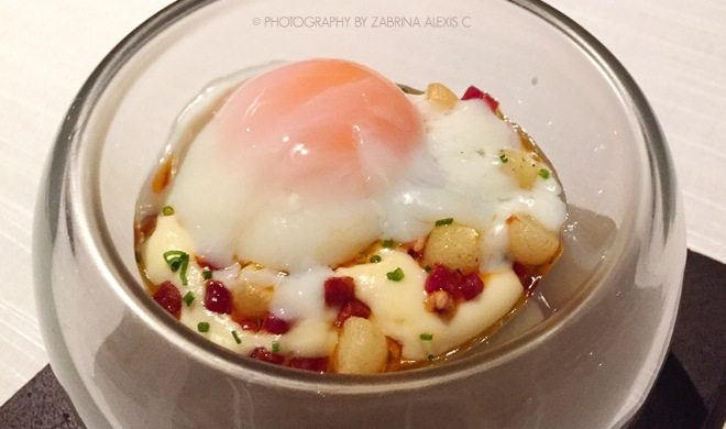 Asia's 50 Best Restaurants 2014 2015 Jaan Singapore Food Review Blog 55°C rosemary smoked organic egg