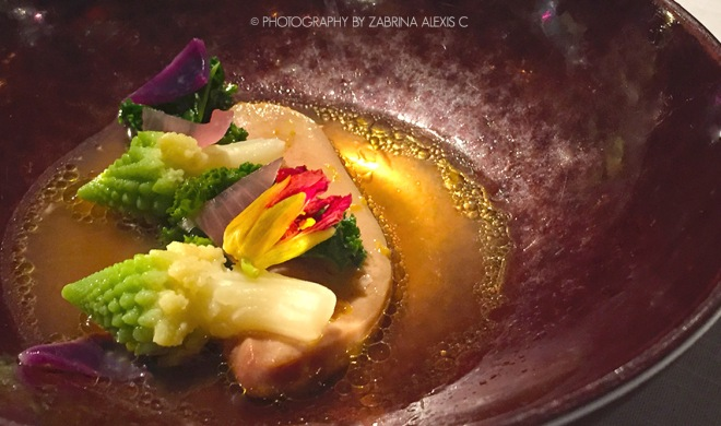 "Asia's 50 Best Restaurants 2014 2015 Jaan Singapore Food Review Blog Foie Gras ""Poche"""