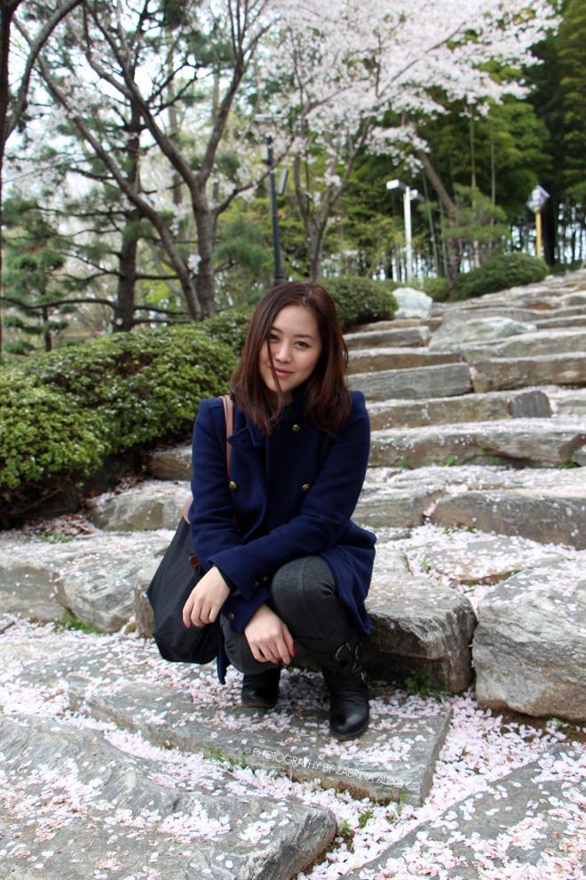 Busan Museum Cherry Blossoms Garden 부산시립박물관 Zabrina Alexis Chew Travel Blog
