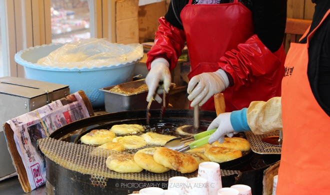 Korean Street Food Hotteok Sweet Pancake Food Travel Blog