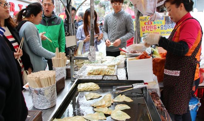 Korea Street Food Pancake Kimchi Mandu Gyoza Jiaozi Travel Blog