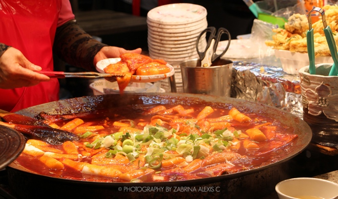 Street Food Korea Tteokbokki Rice Cake Cheap Budget Eats Review Travel Blog