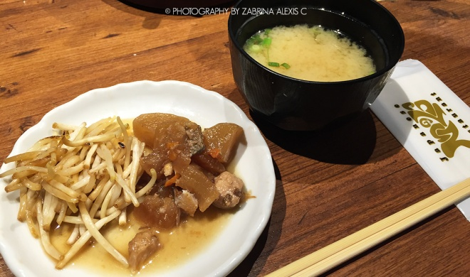 Teppei Japanese Restaurant Singapore Food Review Daikon Beansprouts